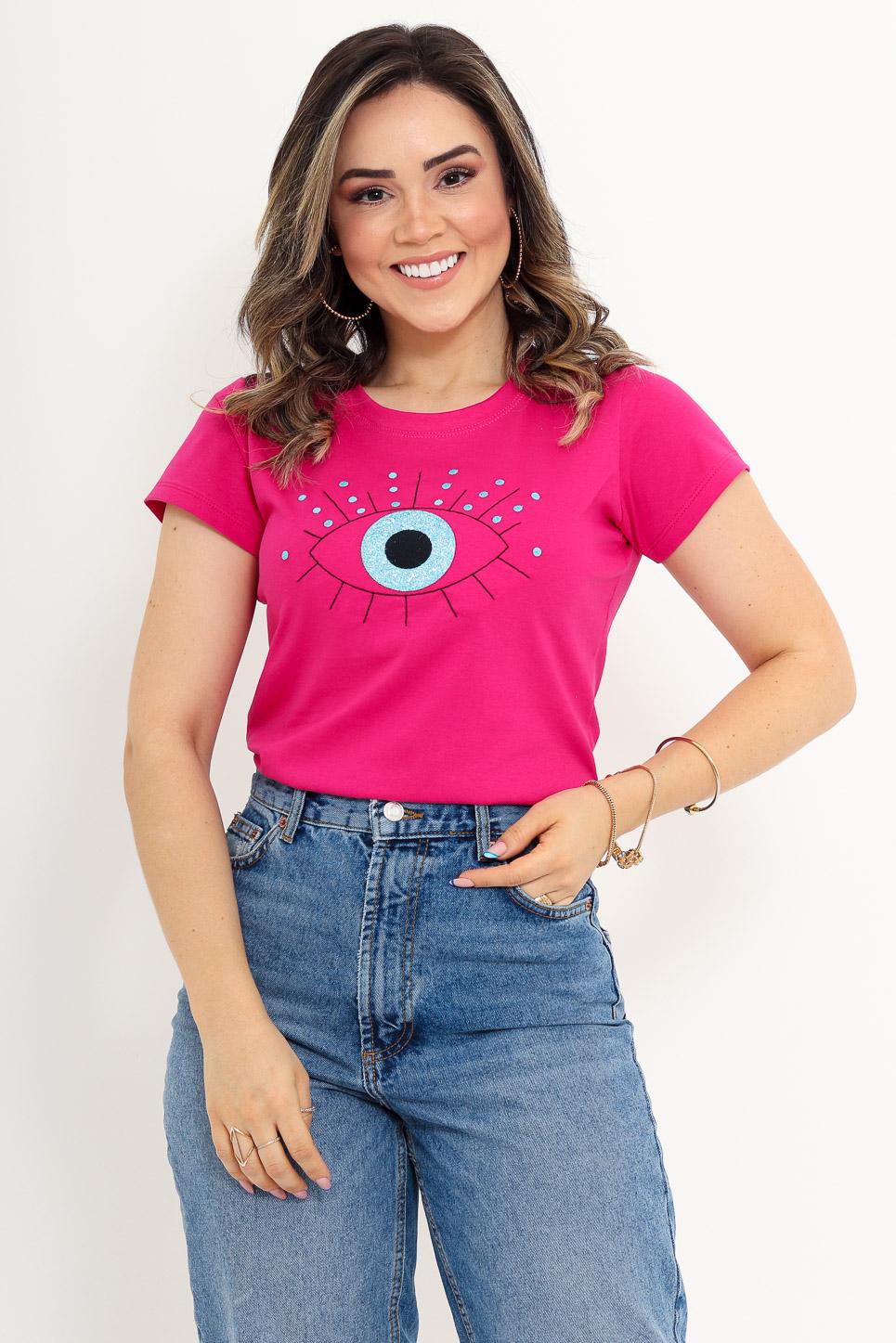 Olho Grego Bordado - Pink (zoom)