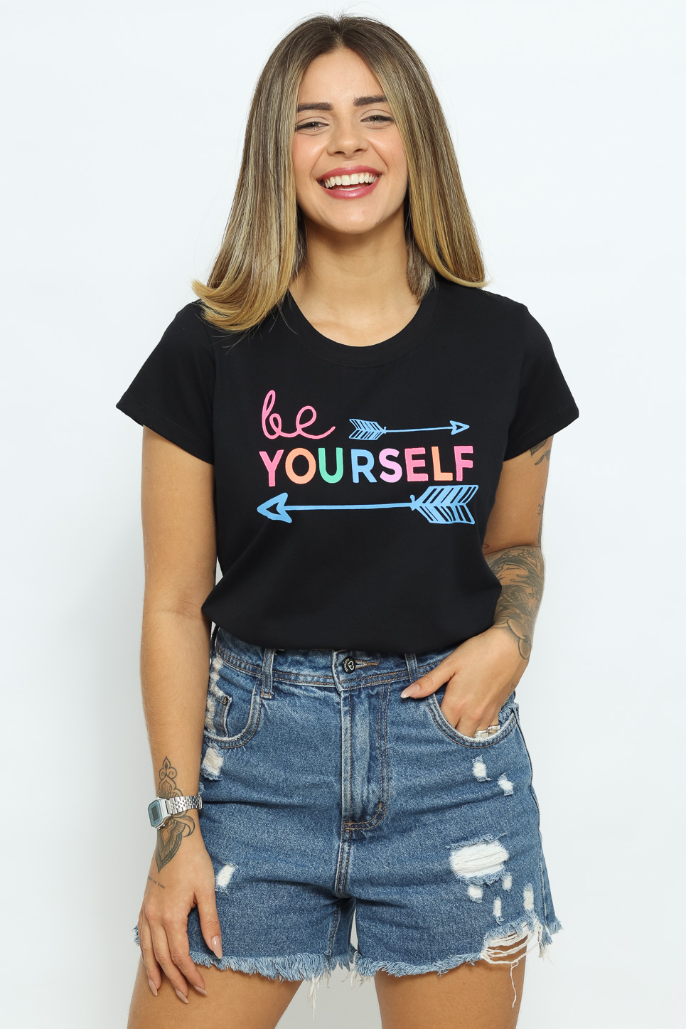 Be Yourself - Preto (zoom)