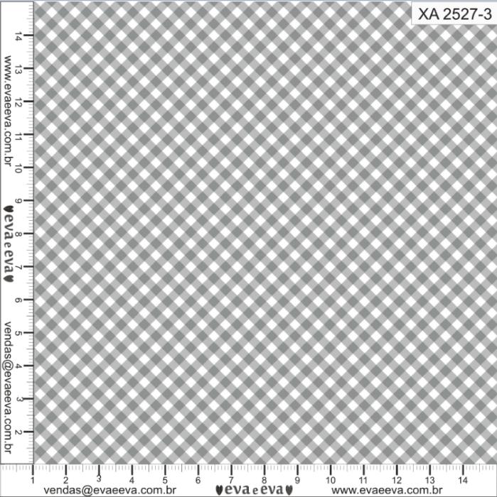 Tecido Nacional Coleção Xadrez Cinza