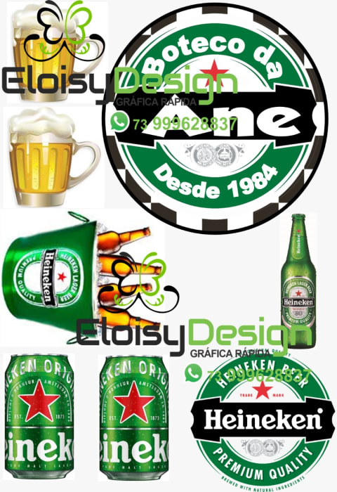 Topo De Bolo Ceveja Heineken
